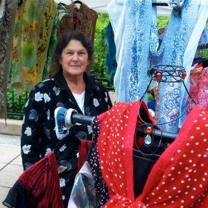 Barbara Schoonover, Fiber Artist, Lithia Artisans Market of Ashland Oregon