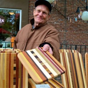 Bruce Kramer, woodworker, Lithia Artisans Market of Ashland Oregon