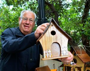 Jay Quimby, Bird houses, Lithia Artisans Market of Ashland, Oregon