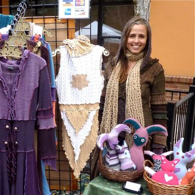 Jasmine Patten of Dervish Clothing, the featured artisan this weekend at Lithia Artisans Market.