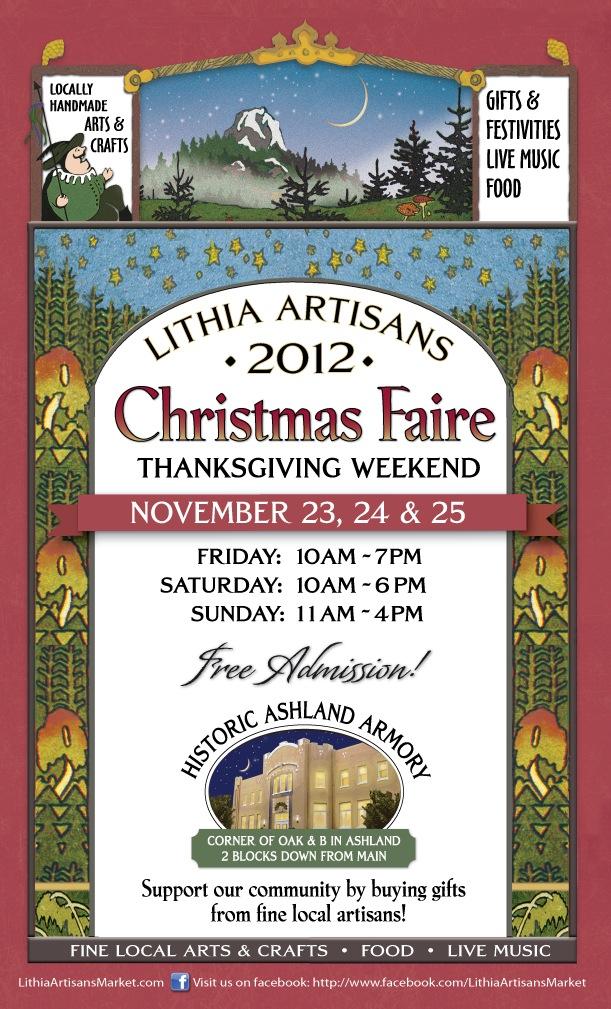 Lithia Artisans Christmas Faire is Thanksgiving Weekend | LITHIA ARTISANS MARKET of ASHLAND
