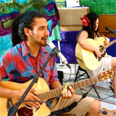 """Two 'Lil Birds"" featuring Antonio Melendez and Aliana DiVictoria will play the afternoon set Saturday, April 6, 3:00-5:00pm. Lithia Artisans Market, downtown Ashland along Ashland Creek."