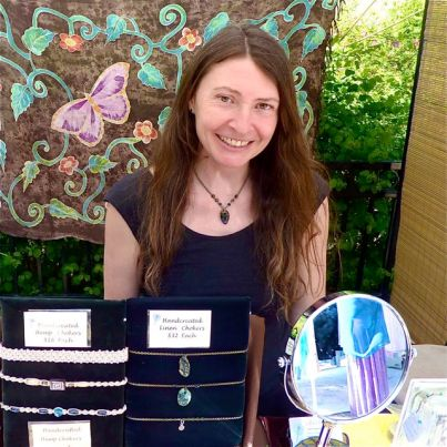 Ahlaya Pace is a regular at Lithia Artisans Market, along Ashland Creek, behind the Plaza, every weekend.