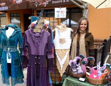 Jasmine Patten of Dervish Clothing will be showing at Lithia Artisans Christmas Faire this upcoming Thanksgiving Weekend at the Historic Ashland Armory.
