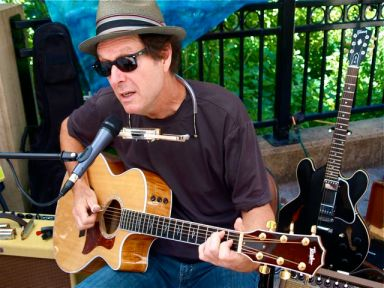 Doug Warner sings the blues. All original tunes! Sunday afternoon from 2:30-4:30 at Lithia Artisans Market, behind the plaza in downtown Ashland, Oregon.