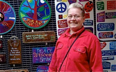 Jan Rice is showing for the first time this year at Lithia Artisans Market. Come by for that perfect custom sign.