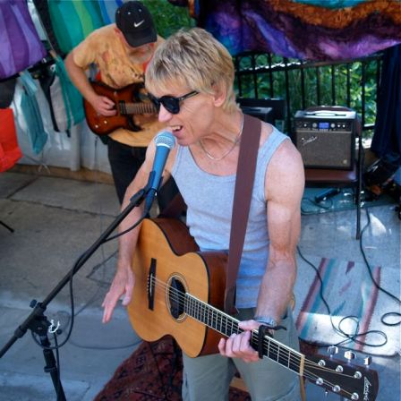 Cole Cullen plays his original tunes with Steve Elmer filling in tasty lead guitar. Saturday afternoon, June 22, from 3-5 at Lithia Artisans Market in Ashland, Oregon.