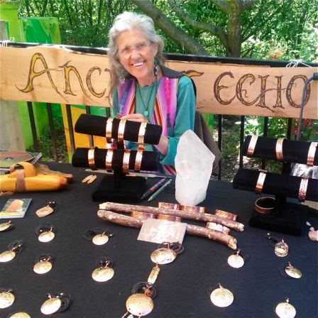 Lavelle Foos was a member in the early 90's and has come back home in 2013. Love her handwrought copper work. See her at Lithia Artisans Christmas Faire, Thanksgiving Weekend at the Historic Ashland Armory.