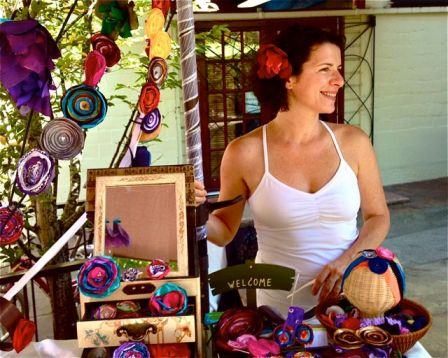 Natalie Stawsky will be at the market with her colorful booth full of flowers to adorn your beautiful self.