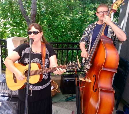 Sage Meadows plays this coming Sunday, July 7th, from 11:30-1:30. Playing with Jeff Addicott on stand up bass. A real treat!