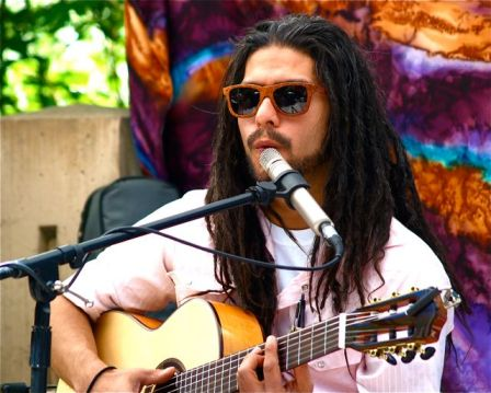 Antonio Melendez of 3 'Lil Birds will be playing on Sunday, August 4th from 3:00-5:00 at Lithia Artisans Market.