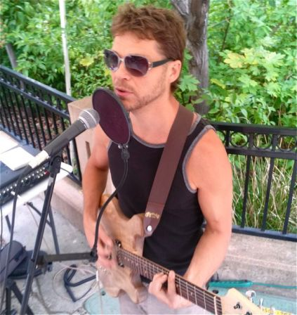 Brett Belan plays this Saturday, August 31 from 11:30-1:30. Lithia Artisans Market, behind the plaza, along Ashland Creek.