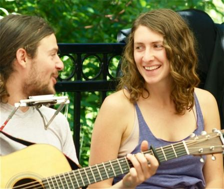 "It is magical when people who love each other sing together. Here is Danny and Jacqui of ""Patchy Sanders"". They play Sunday, August 11 from 11:30-1:30. Don't miss it!"