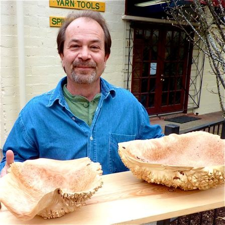 Larry Shinerock of Creative Woodwork makes some of the finest burl bowls you will ever see. Weekends along Ashland Creek at Lithia Artisans Market.