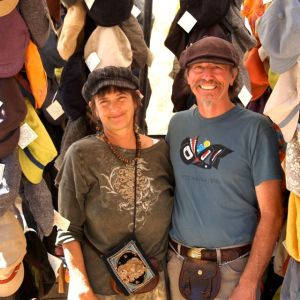 Jim and Carol Young of the Hat People. This weeks featured artisans at the Lithia Artisans Market.