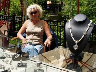 Sabine Collings is the featured artisan this weekend at the Lithia Artisans Market of Ashland, Oregon.