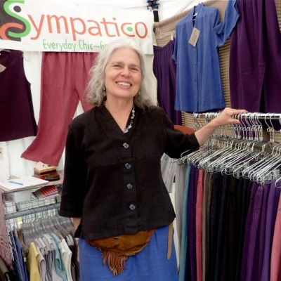 Rose Gerstner of Sympatico Clothing is the weeks featured artisan.