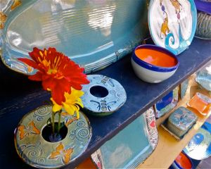 Pottery by Alissa Clark, our featured artisan of the week.