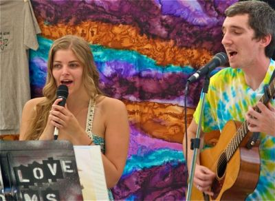 Caleb Orton, here shown in his short lived duo called Love Atoms, will be at the Lithia Artisans Market to play his original tunes, Sunday, October 12 from 2-4.