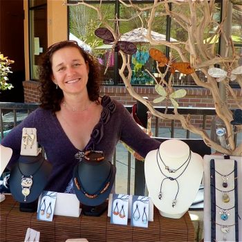 Karina will be at the Holiday Market every weekend in December. She makes beautiful jewelry of using amber, opals, sterling and more.