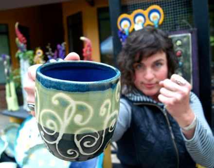 Local Potter Alissa Clark is always on her game. This time with triple antennas to boot.
