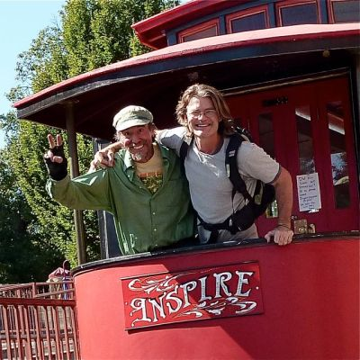 Jim Young and Marcus Scott with Streetcar Named Inspire, Lithia Artisans Market, Ashland, Oregon