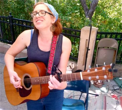 Bekkah McAlvage brings her own original tunes to the market this Sunday, August 16 from 2:30-4:30.