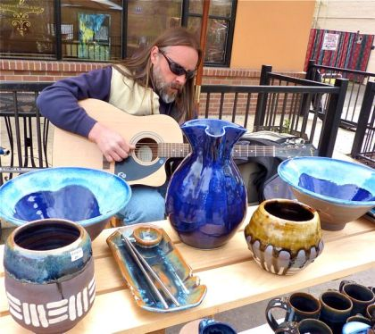 Bill Francis, Potter, Lithia Artisans Market of Ashland, Oregon