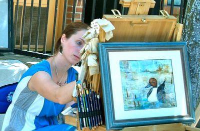 Erin Linton, Fine Artist, Lithia Artisans Market of Ashland, Oregon