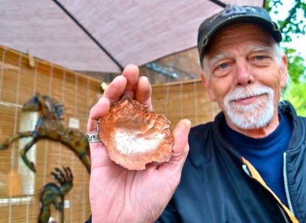 Steve McLaren, Copper Smith, is a long time member of the Lithia Artisans Market of Ashland, Oregon.