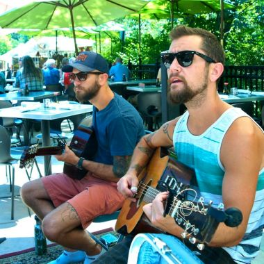 The Brothers Reed. Live Music at the Lithia Artisans Market of Ashland, Oregon
