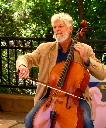 Daniel Sperry is a fine cellist and plays regularly at the Lithia Artisans Market of Ashland, Oregon.