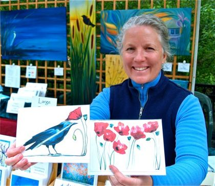 Katrina Meister is a very accomplished Fine Artist who shows regularly at the Lithia Artisans Market of Ashland, Oregon.