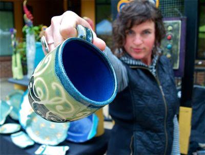 Alissa Clark Clayworks, Potter, Lithia Artisans Market Ashland, Oregon LAMA