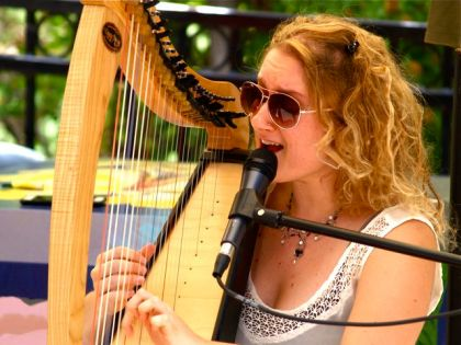 Kate Wilde plays original tunes with her group, The Ancient Wild. Locally created, live Music at The Lithia Artisans Market of Ashland, Oregon (LAMA).