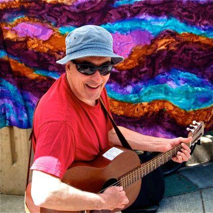 Gene Burnett, Musician, Lithia Artisans Market of Ashland, LAMA.
