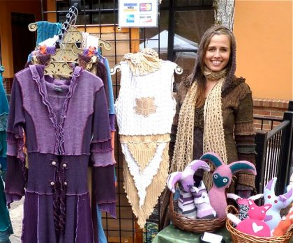 Jamine Patten, Clothing Designer, Dervish, Lithia Artisans Market, Ashland, Oregon