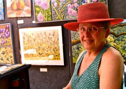 Mabrie Ormes, Fine Artist, Lithia Artisans Market Ashland, Oregon