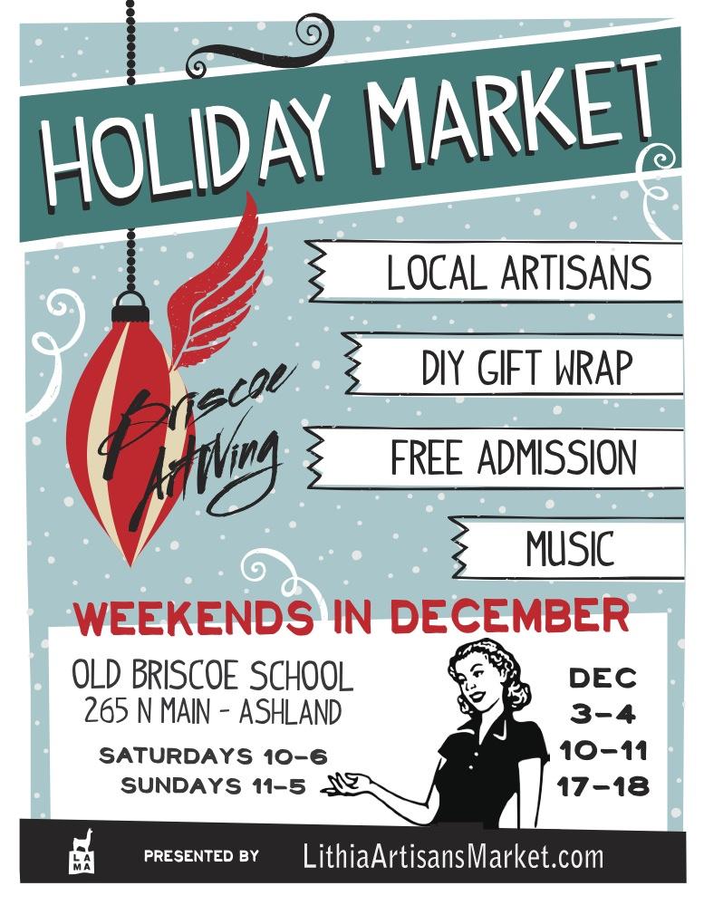 2016 Holiday Market at the Briscoe ArtWing - LITHIA ARTISANS MARKET of ASHLAND