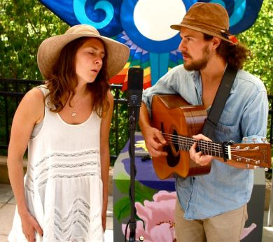 Jacqui and Danny of Hollis Peach will be part of the musical ambiance at the Lithia Artisans Christmas Faire.
